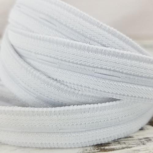 Nylon Buttonhole Elastic:  White