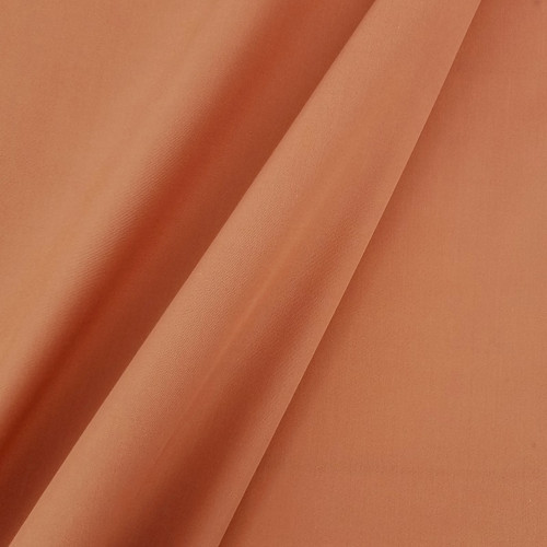Solid Coloured Anti-Bacterial & Water-Repellent Cotton Poplin: Rust