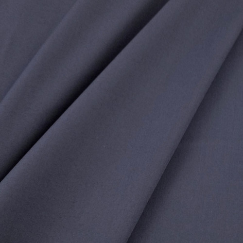 Solid Coloured Anti-Bacterial & Water-Repellent Cotton Poplin: Navy