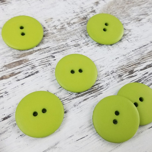 Simple Circle Button:  Lime Green