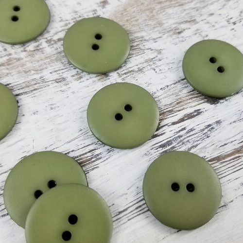 Simple Circle Button:  Olive Green