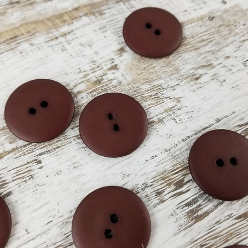 Simple Circle Button:  Mahogany