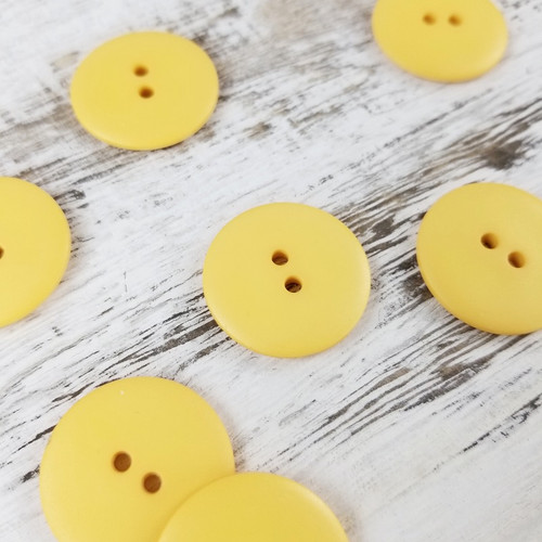 Simple Circle Button:  Sunflower Yellow