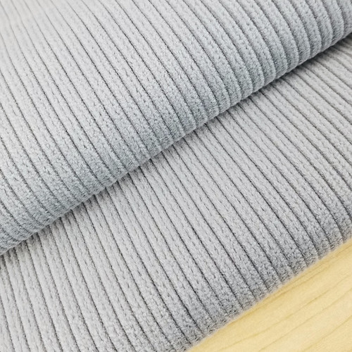 Stretch Wide Wale Corduroy:  Silver
