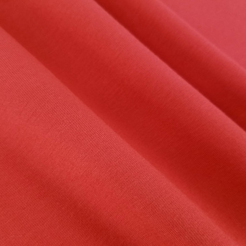 Solid Basics Jersey Knit:  Tomato