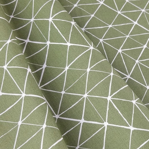 Connecting Lines, Olive Green:  Cotton Poplin