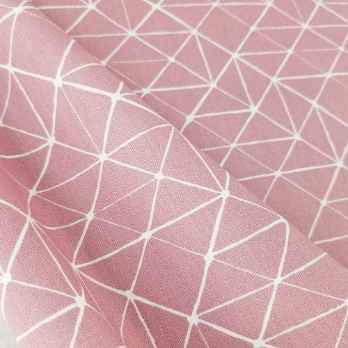 Connecting Lines, Rose:  Cotton Poplin