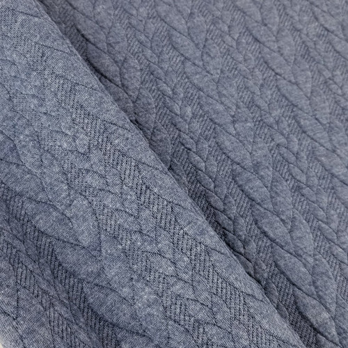 Cable Knit: Heathered Denim Blue