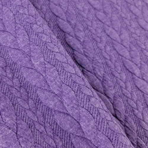 Cable Knit: Heathered Purple