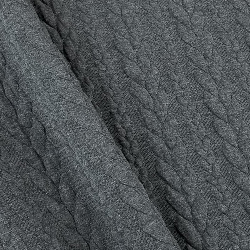 Cable Knit: Heathered Dark Grey