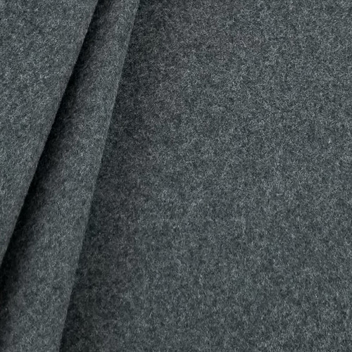 Cotton Double Fleece:  Heathered Granite