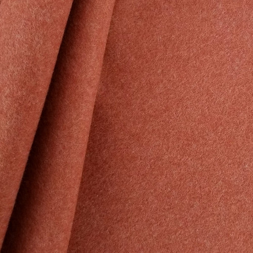 Cotton Double Fleece:  Heathered Brick