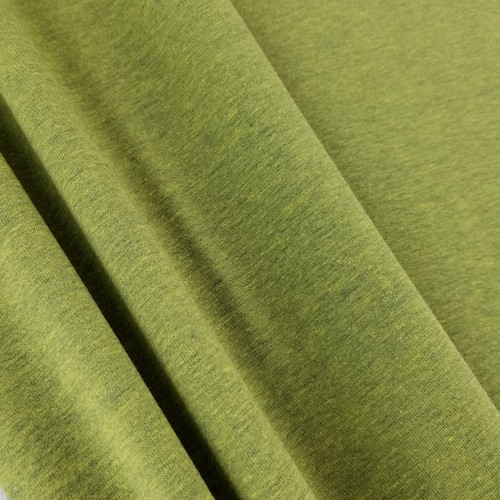 Heathered Jersey Knit: Olive