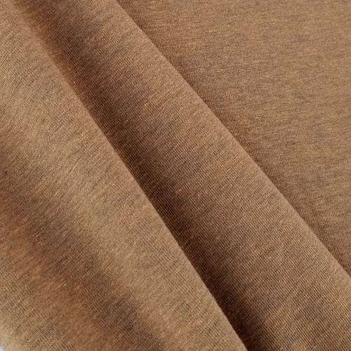 Heathered Jersey Knit: Terracotta