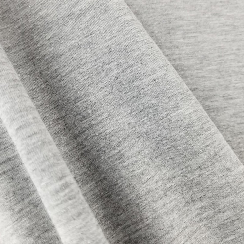 Heathered Jersey Knit: Silver