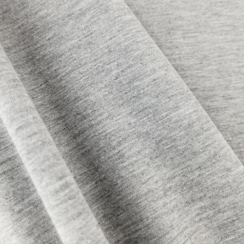 Heathered Jersey Knit: Light Grey