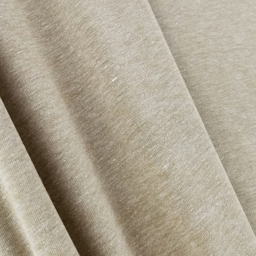 Heathered Jersey Knit: Light Brown