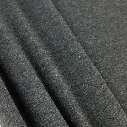 Heathered Jersey Knit: Granite