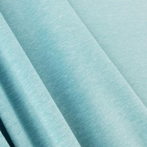 Heathered Jersey Knit: Pool Blue