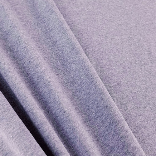 Heathered Jersey Knit: Amethyst