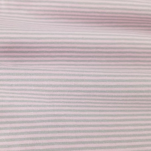 2 mm Yarn Dyed Stripes:  Pink & Grey