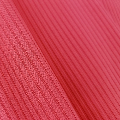 Bamboo Ribbed Knit:  Coral Candy