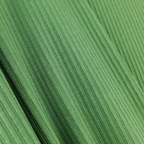 Bamboo Ribbed Knit:  Bottle Green