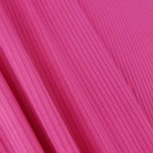 Bamboo Ribbed Knit:  Fuchsia