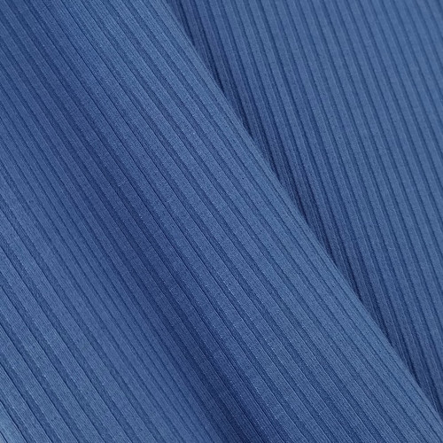 Bamboo Ribbed Knit:  Sapphire