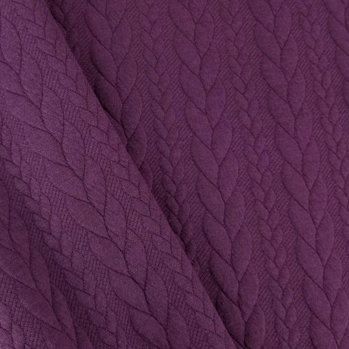Cable Knit: Heathered Violet