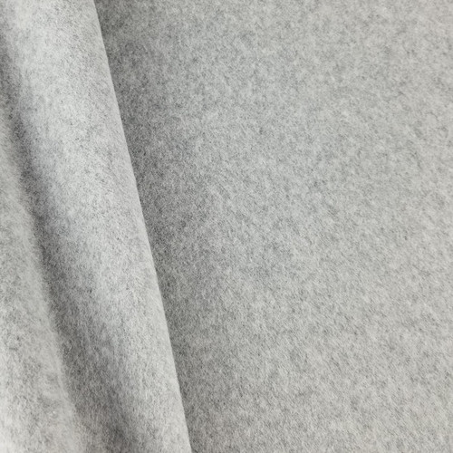 Cotton Double Fleece:  Heathered Light Grey