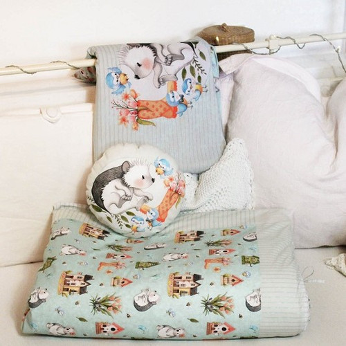 Spring Joy, Green: Children's bed linen panels from Birgit Boley (measures approximately 250 cm)