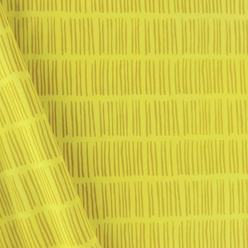 Lines, Lemon Yellow:  Jersey Knit