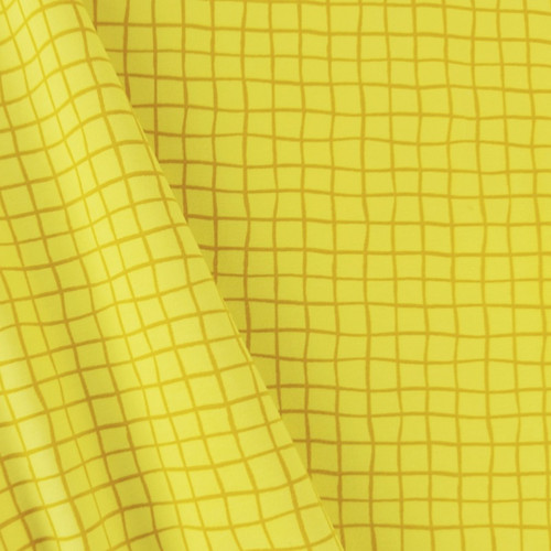 Grid, Lemon Yellow:  Jersey Knit