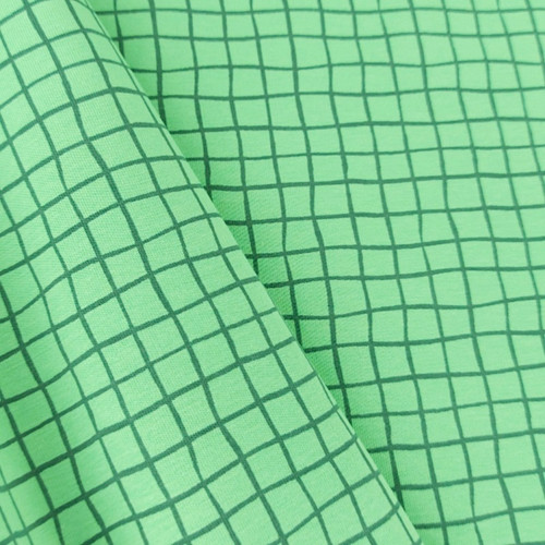 Grid, Green:  Jersey Knit