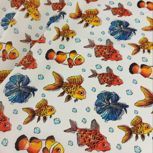Fishy Fishy: Digitally Printed Lawn Cotton