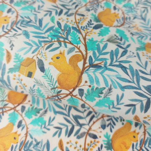 Home In The Trees:  Waterproof Laminated Cotton by Katia