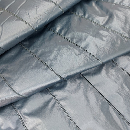 Shimmer and Shine, Metalized Blue:  Quilted, Padded Outerwear