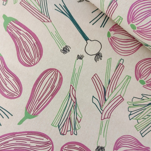 REMNANT!Aubergine: Waterproof Cotton Canvas from Katia