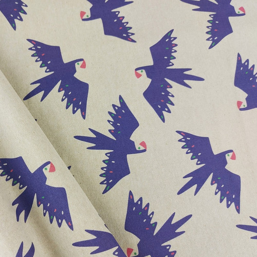 Tropical Birds: Cotton Canvas by Katia