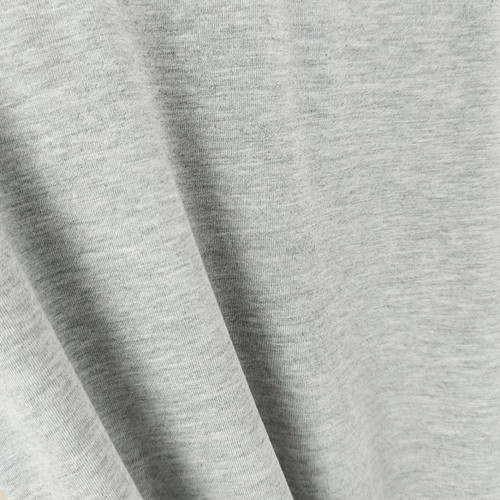 250 gsm Bamboo Jersey Knit:  Heathered Light Grey