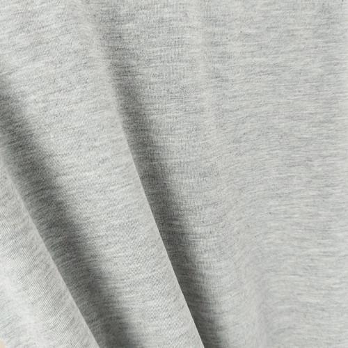 250 gsm Bamboo Jersey Knit:  Heathered Light Grey
