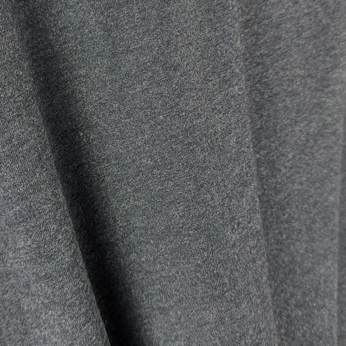 250 gsm Bamboo Jersey Knit:  Heathered Dark Grey