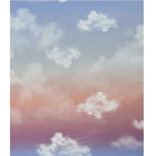 Cloudy Sky, Rose:  Modal French Terry Panel (measures approximately 70 cm)