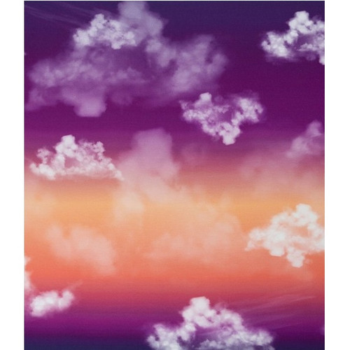Cloudy Sky, Violet:  Modal French Terry Panel (measures approximately 70 cm)