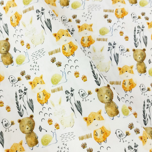 Friendly Woods:  Digitally Printed Woven Cotton