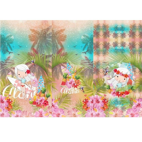 Tropical Holiday: Panel Digital Jersey Knit, Stenzo  (approximately 75 cm)