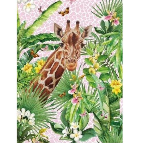 Beachy Giraffe: Digitally Printed Cotton Towel, Stenzo  (approximately 75 x 150 cm)