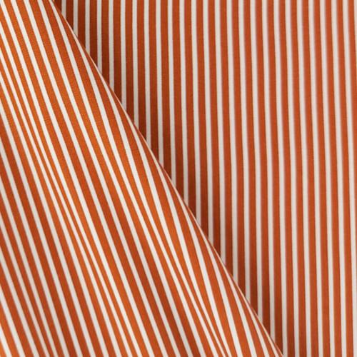 Simple Stripes, Terracotta:  Cotton Poplin