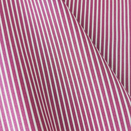 Simple Stripes, Raspberry:  Cotton Poplin